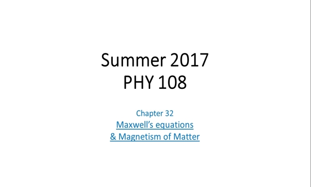 Summer 2017 - PHY108 - Rec12