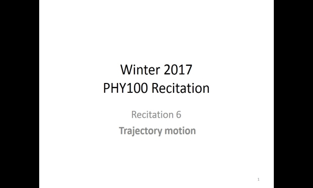 Winter 2017 - PHY100 - Rec6